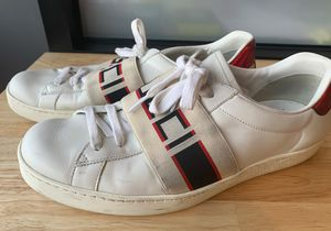 Men's Gucci New Ace Logo Strap Sneakers for Sale in Beverly Hills, CA
