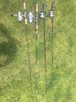 4 Fishing rods and reels for Sale in Dublin, OH
