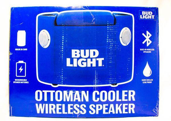 Bud light ottoman cooler wirelss speakers for Sale in Jacksonville, FL -  OfferUp