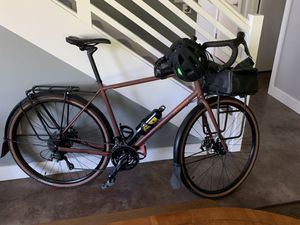 2018 Specialized AWOL Expert size XL adventure touring gravel bike full racks and fenders and set of specialized Burra Burra touring bags (over 3200 for Sale in Portland, OR