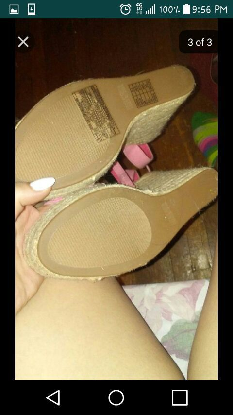 Light Pink Wedges. Size 8 1/2