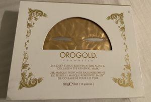 Orogold 24k deep tissue rejuvenation mask & collagen eye renewal mask for Sale in San Diego, CA