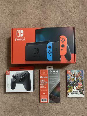 NEW v2 Nintendo switch, smash bro's, more for Sale in Fresno, CA