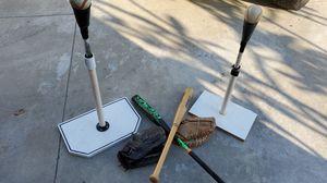 Baseball equipment/batting tees for Sale in Fullerton, CA