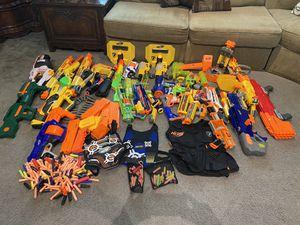 Nerf Guns, vests and bullets for Sale in La Habra, CA