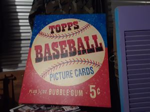 TOPPS BASEBALL CARD ADVERTISEMENT for Sale in Ladson, SC