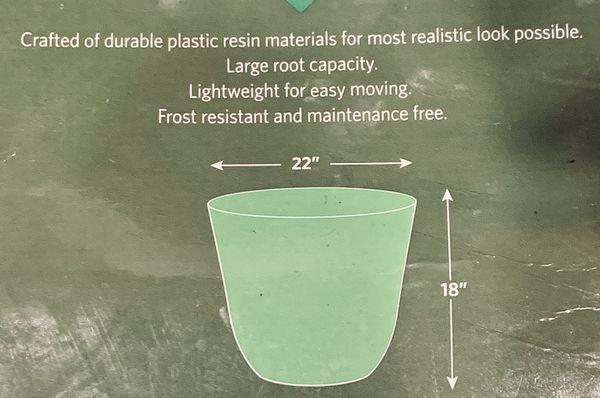 Blue Garden Planter Pot - Blue/Black Color - Indoor and Outdoor Use
