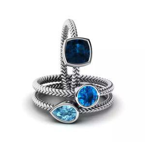 3-in-1 Promise Sapphire Ring Sets 925 Silver AAAA Zircon Cz for Sale in Wichita, KS