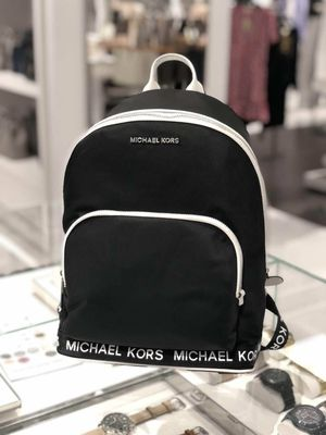 NWT Michael Kors Sport Connie Nylon Logo Tape Color Black/Optic Tech Backpack for Sale in Cypress, TX