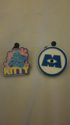 Disney Monsters Inc Logo and Kitty Sulley Pins from Booster Set for Sale in Riverside, CA