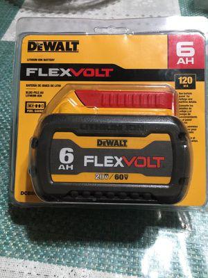 DEWALT FLEXVOLT 20-Volt/60-Volt MAX Lithium-Ion 6.0Ah Battery Pack for Sale in Los Angeles, CA