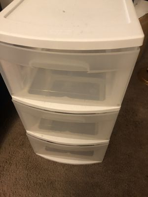 3 plastic drawer for Sale in San Jose, CA