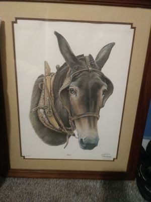 Sighed mule painting for Sale in Evansville, IN