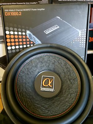 Alphasonik 12inch subwoofer package brand new 1200w sub with amplifier for Sale in City of Industry, CA