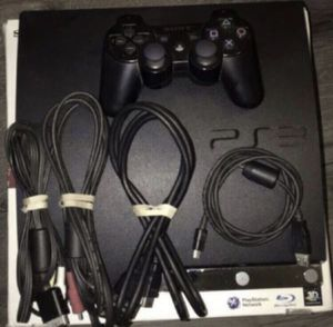 PS3 slim PlayStation 3 console power cord included Complete for Sale in Pasadena, CA