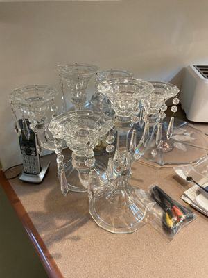 2 Crystal candle holders (3 candles each) for Sale in Hialeah, FL