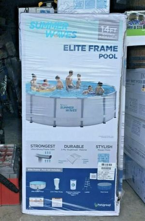 Summer waves elite 14x48 above ground swimming pool metal frame for Sale in Magnolia, TX