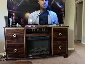 Wooden tv stand for Sale in Highland Hills, OH