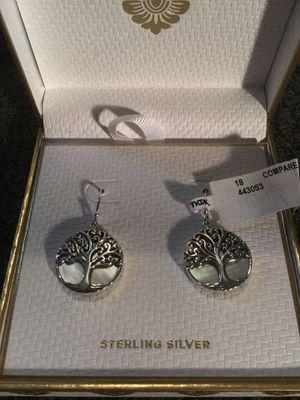 BY. ANIKKA. WITT. 925 STERLING. SILVER TREE OF LIFE EARRINGS for Sale in Virginia Beach, VA