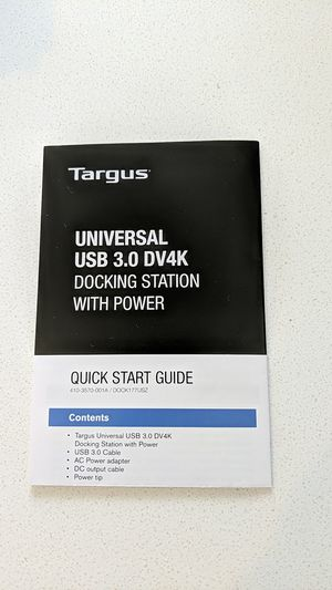 Targus Universal Docking Station for Sale in Mill Creek, WA