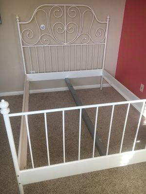 Ikea LEIRVIK full size metal bed frame for Sale in Round Rock, TX