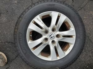 Michelin Defender Tires and honda wheels (2) for Sale in Fairfax, VA