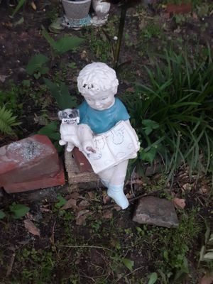 Yard statue boy with dog for Sale in Alexandria, LA