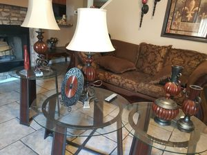 3 glass tables for Sale in Phoenix, AZ