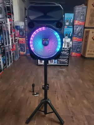 """Bocina Nueva WITH STAND !!TWS Bluetooth Karaoke Speaker 12"""" Woofer LED Lights / USB / MICRO SD CARD / FM RADIO 📻 . 📦 Rechargeable 🔋 +++ for Sale in Los Angeles, CA"""