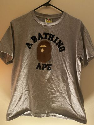BAPE College Tee Grey size:m pre-own for Sale in Quincy, MA