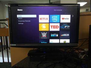 Gateway 23 inch widescreen LCD display with HDMI DVI and PC ports + Roku Streaming Stick for Sale in Washington, DC