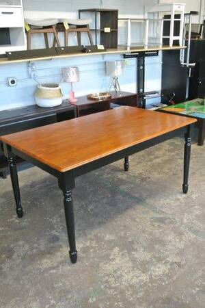 BH&G Farmhouse Kitchen Dining Room Table w/ Natural Wood Top for Sale in Mesa, AZ