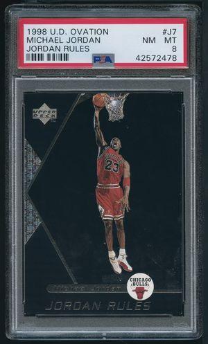 1998 Upper Deck Ovation Jordan Rules Michael Jordan PSA 8 for Sale in Miami, FL