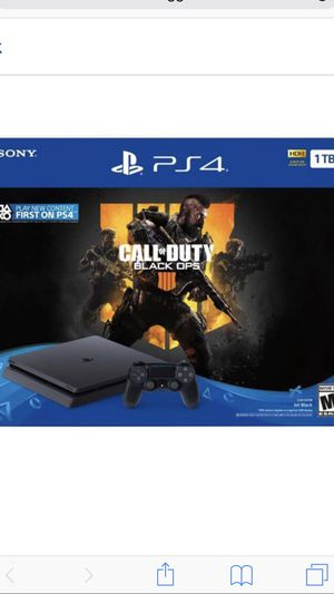 PlayStation 4 Slim 1TB Console - Call of Duty: Black Ops 4 Bundle for Sale in Ashburn, VA
