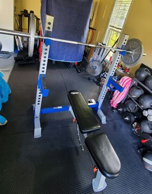 Fitness Gear Squat Stand and FID Bench Rack. Great VALUE! for Sale in Raleigh, NC