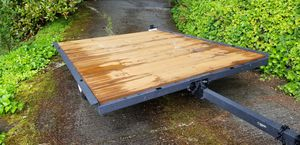 Tilt trailer 6x8 flatbed new paint and wood for Sale in Bellevue, WA