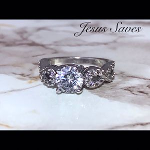 Silver Plated CZ Twist Ring Size 7/8/9 for Sale in Fresno, CA