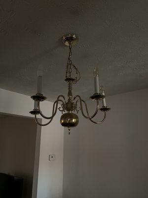 Gold chandelier pendant light for Sale in Fort Meade, MD