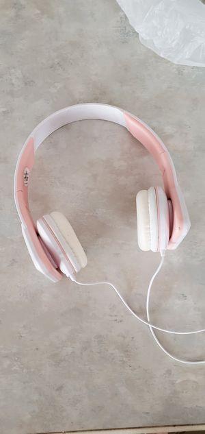 Pink and white headphones for Sale in Laurel, DE