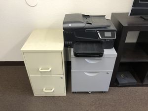 2 2 Drawer File Cabinets and Printer for Sale in Ontario, CA