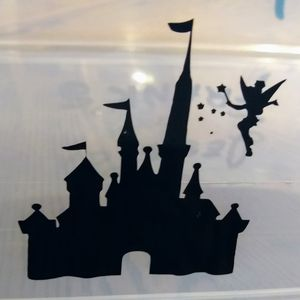 Window decal sticker Disney Castle with Tinkerbell for Sale in Bakersfield, CA