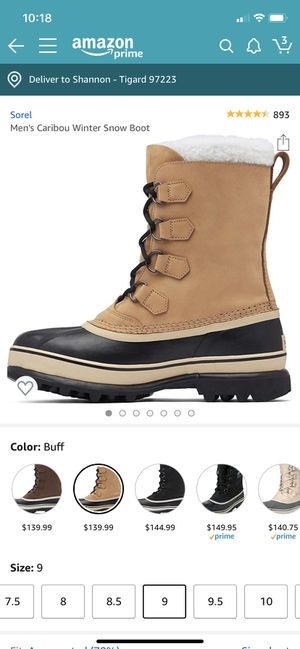Men's Sorel's Caribou Boots size 9 for Sale in Tigard, OR
