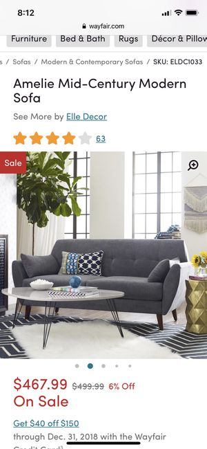 Wayfair: Modern Amelie Sofa Couch for Sale in Seattle, WA