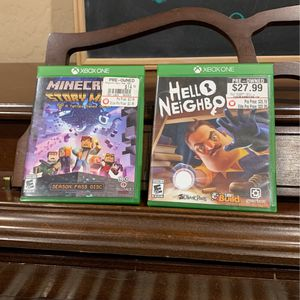 Xbox One Games - Minecraft Story Mode and Hello Neighbor for Sale in Glendale, AZ