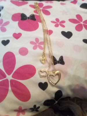 Three heart necklace for Sale in Dover, NJ