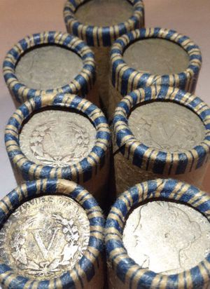 Valuable 7 Unsearched 1883-1938 Liberty V & Buffalo Nickels Mixed Rolls- Totalling 280 Coins- Grandfathers Collection! for Sale in Fairfax, VA