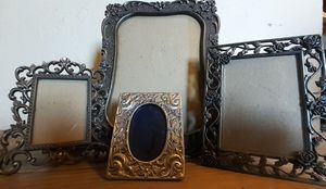 Set of 4 Vintage Ornate Pewter Frames for Sale in Beaumont, CA