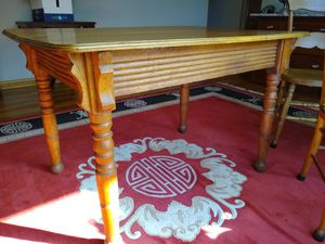 Apartment sized antique oak table and 4 chairs for Sale in Columbus, OH