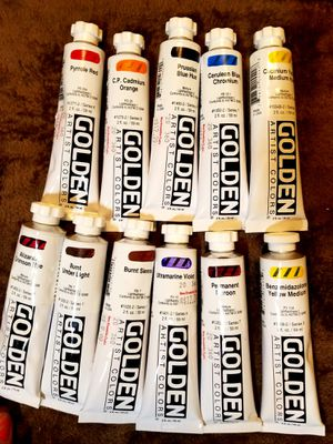 11 BRAND NEW tubes of GOLDEN Acrylic Paint. for Sale in Bonney Lake, WA
