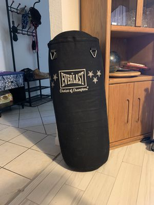 Punching bag Everlast 60#. Canvas. Pick up in North Stockton for Sale in Stockton, CA